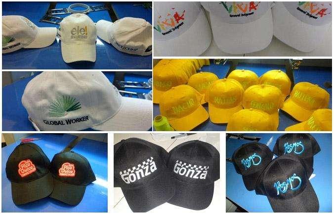 gorras estampado bordado