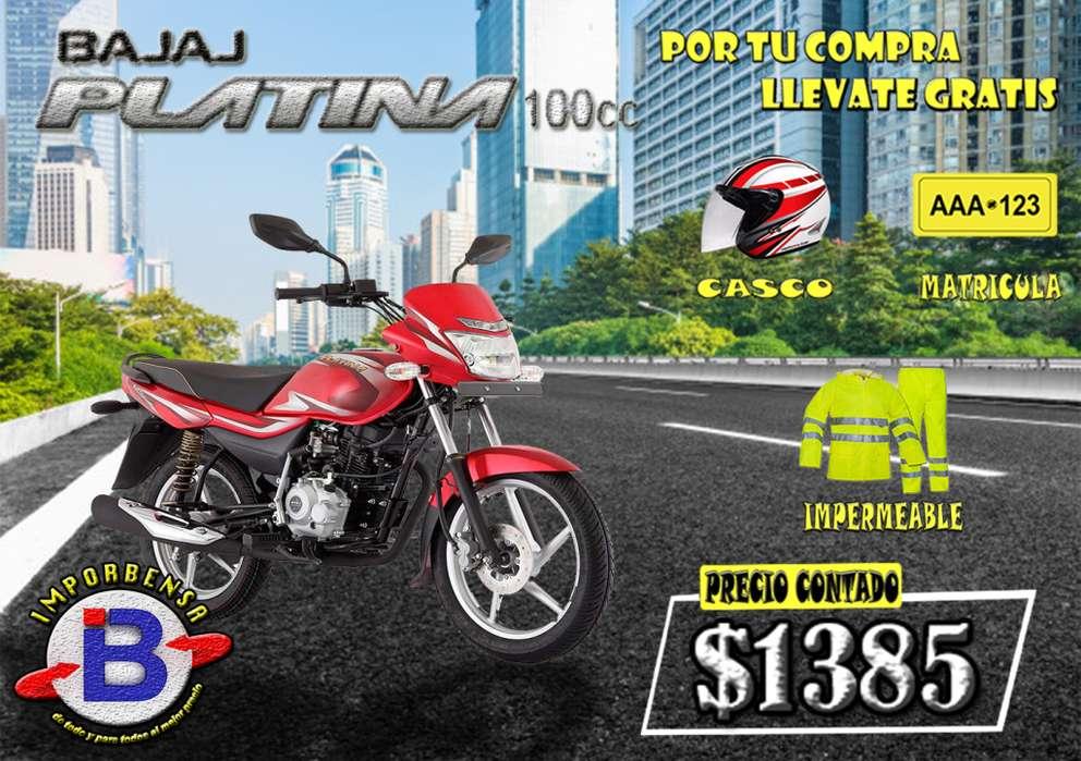 MOTO SANTO DOMINGO//PLATINA-100-CASCO, MATRICULA E IMPERMEABLE GRATIS//IMPORTADORA BENAVIDES