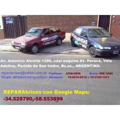 REPARO PARABRISAS EN AUTOMOTORES Y MAQUINARIAS.