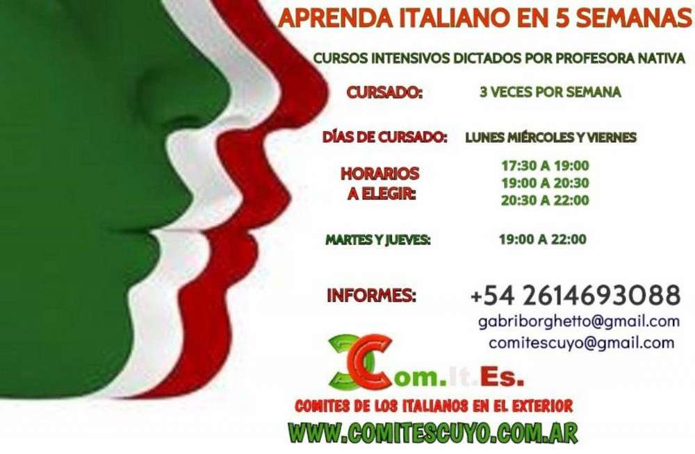 CURSO INTENSIVO DE ITALIANO EN 5 SEMANAS