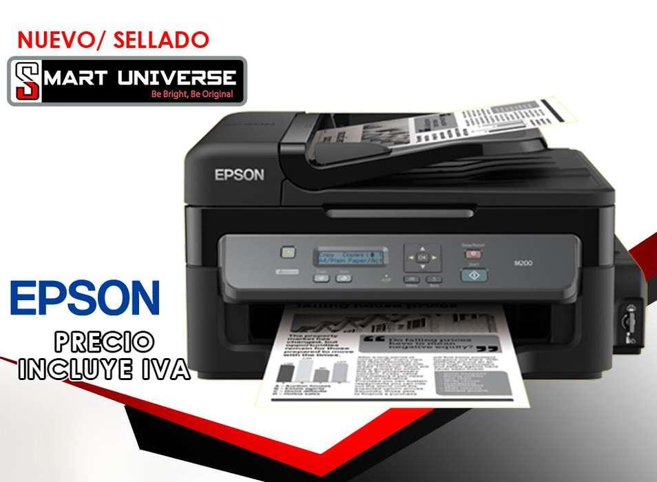 <strong>impresora</strong> Epson M200 Multifuncion Monocromatica Tinta Contin