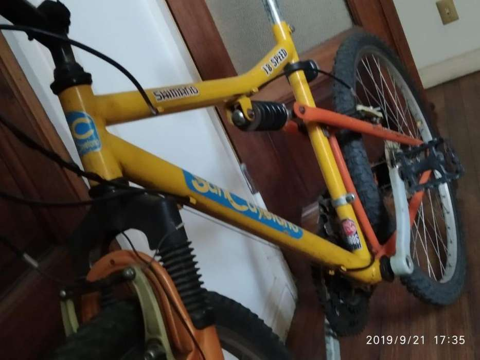 Bicicleta MTB Rod.26 doble suspensiõn 18 velocidades