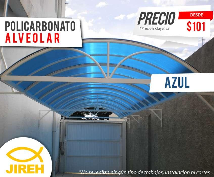 Policarbonato Jireh Azul 6mm en Guayaquil, Techos, Alucobond, Acrílico, Cielo raso PVC