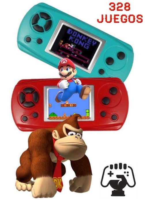 Consola De Juegos Portatil 8bits 328 Juegos Retro clasicos