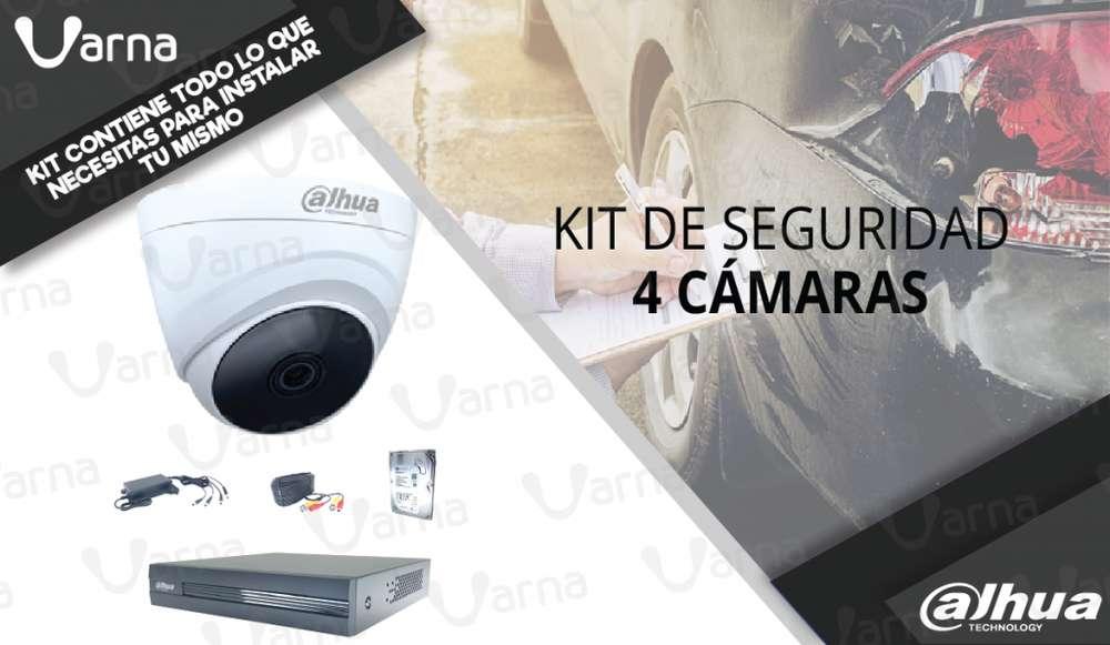 KIT de 4 cámaras de seguridad HD 1080p monitoreate tu mismo