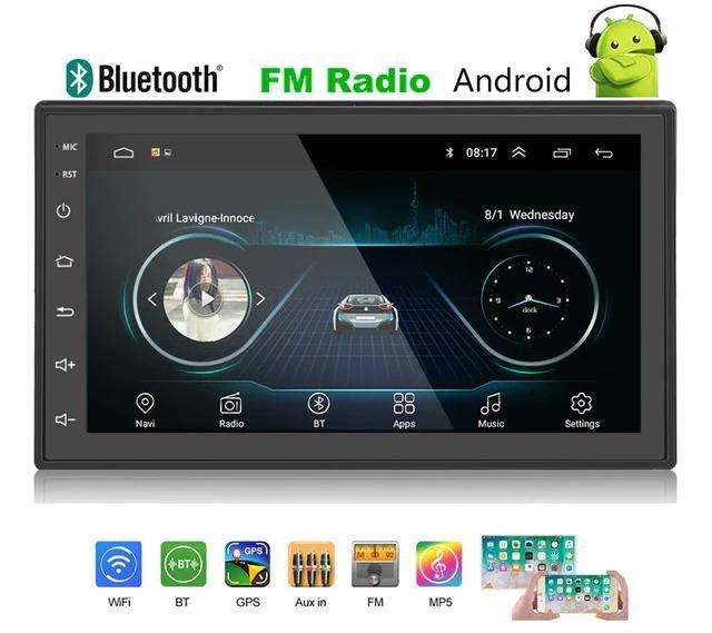 Autoradio radio de 7 pulgadas android WIFI BT GPS APPS todas las tarjetas de credito NUEVO