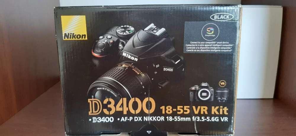 Nikon D3400 Lente 18-55mm