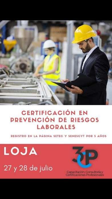 Certificación en Prevéncion de Riesgos L