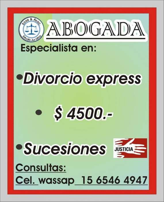 ABOGADO DIVORCIO EXPRESS SUCESIONES MORON.CAPITAL FEDERAL MICROCENTRO
