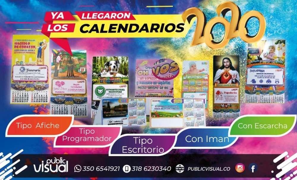 CALENDARIOS, ALMANAQUES 2020 LITOGRAFIA PUBLICVISUAL CALI