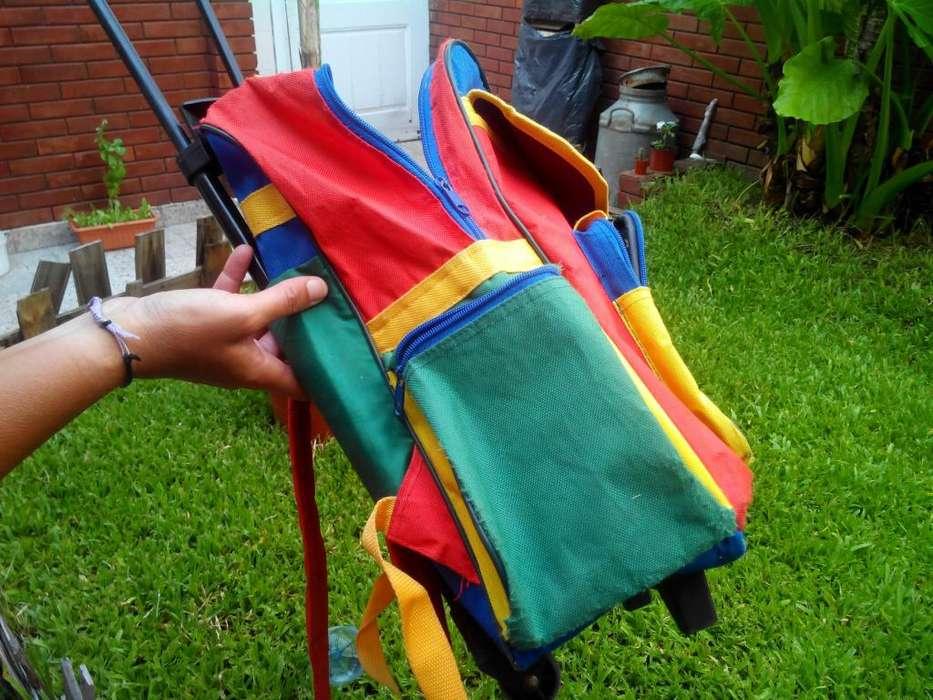 Mochila Escolar Multicolor 200 Con Carrito