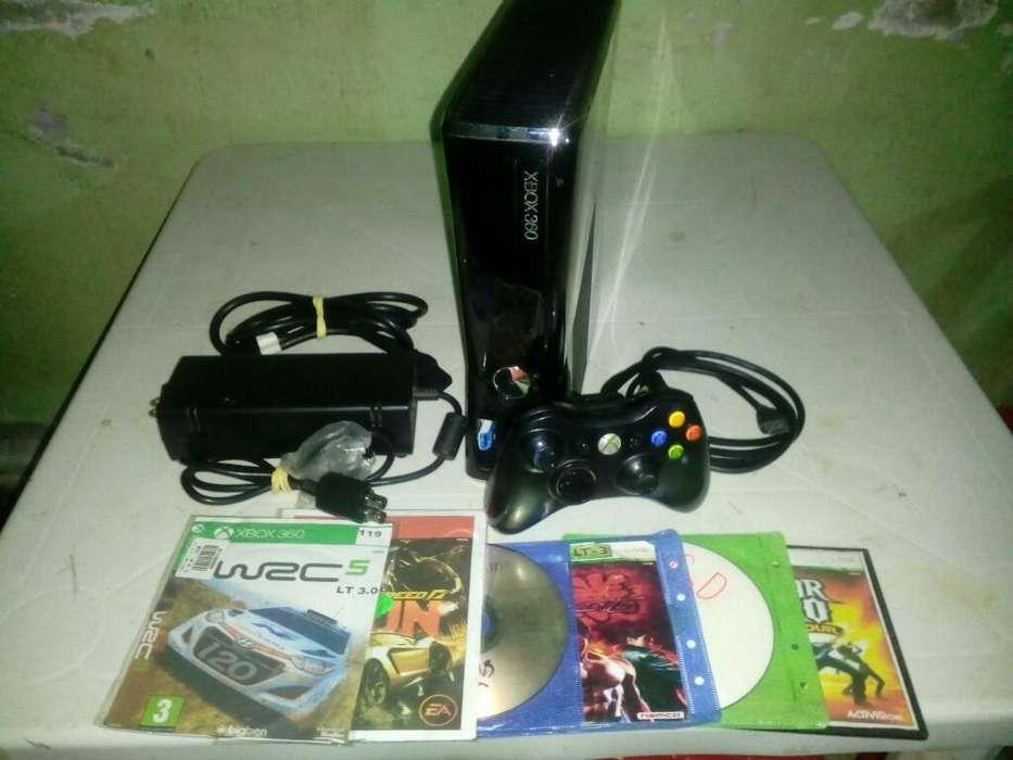 Xbox 360 Slim Hermoso Como Nuevo Full