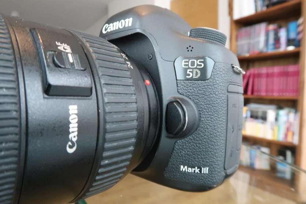 Camara Canon Eos 5d Mark Iii Mark 3 Lente Canon y Tokina Flash Canon