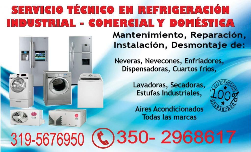 Servicio Técnico Especializado en Refrigeración 3502968617