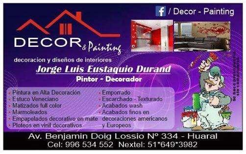 Maestro pintor , especialista en decoración de interiores contratos al 996534552