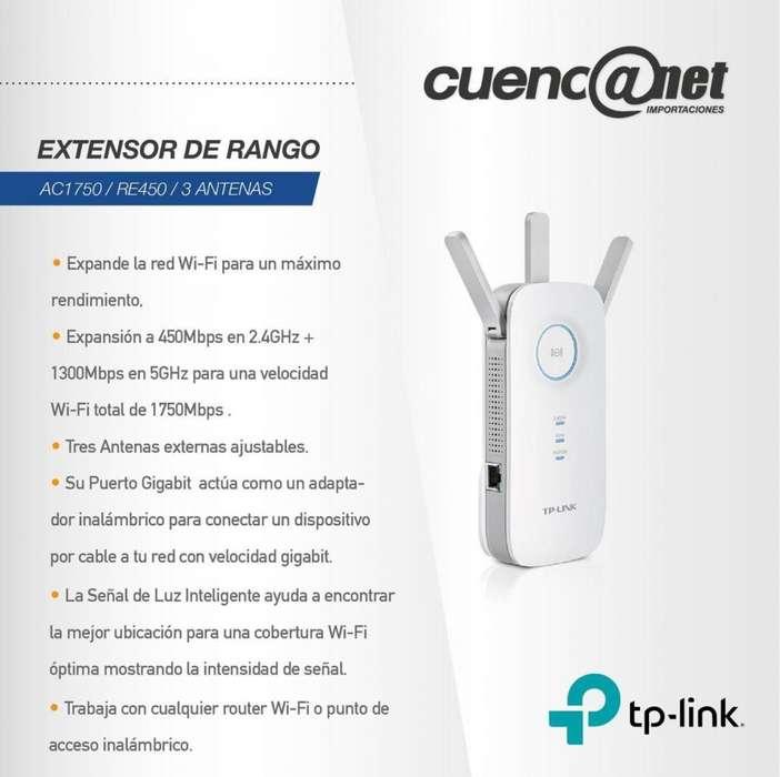 Extensor de Rango Tp-Link Ac1750/ Re450/ 3 Antenas
