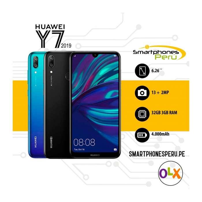 Huawei Y7 2019 32GB / disponibilidad inmediata / Smartphonesperu
