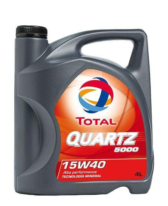 Aceite Qaurtz 5000 15w 40 Nafta Mineral 4lts