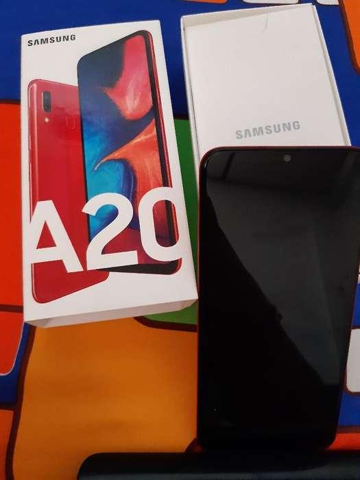 <strong>celular</strong> Sansung A20 Rojo Nuevo en Caja