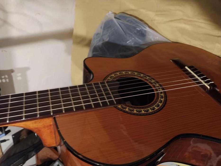 guitarra gracia con microfono y pre
