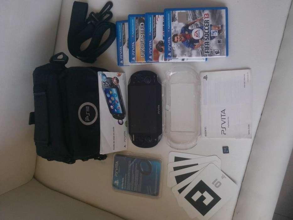 Ps Vita Sony Original Con Juegos Y Accesorios