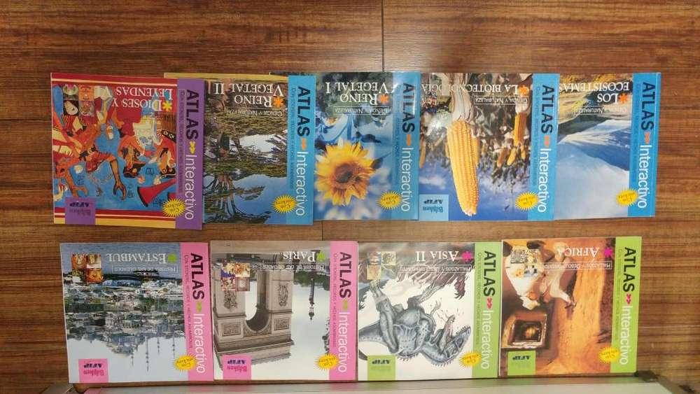 LIBROS ATLAS INTERACTIVO 9 libros watsap 116-140-0746