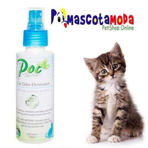 Eliminador de malos olores para gato poc odor no mas pipi