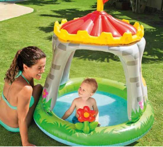 Piscina Castillo Inflable Intex 122x122cm