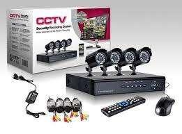 Cctv Kit Dvr 4 Canales 4 Cámaras Seguridad 700 Tvl