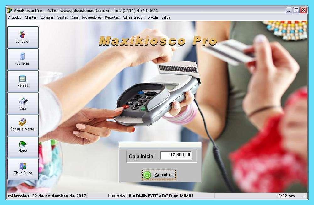 NUEVO programa .º• MaxiKiosco PRO •º. GDS Sistemas - gestión de kiosco software apto tarjetas y Fact Electrónica