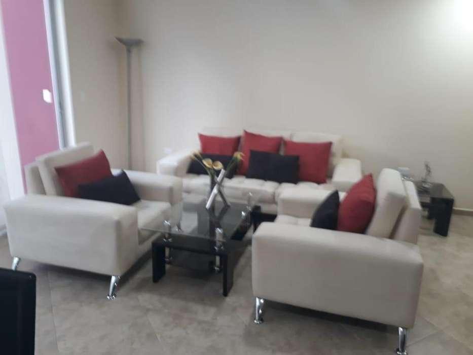 Rento departamento, amoblado 80mts2, 2 dormitorios, Sector Cumbaya