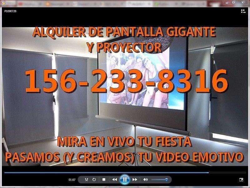 ALQUILER DE PROYECTOR Y PANTALLA GIGANTE QUILMES 1562338316 TU EVENTO EN VIVO en PANTALLA GIGANTE