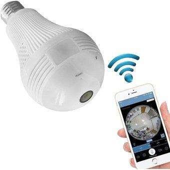 Camara Ip Wifi Hd 1080p Bombillo
