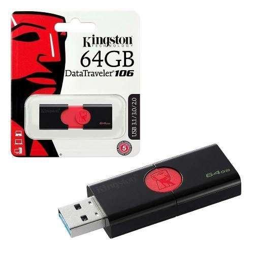 Pendrive Kingston 64gb Dt 106 Datatraveler Usb 3.0 3.1