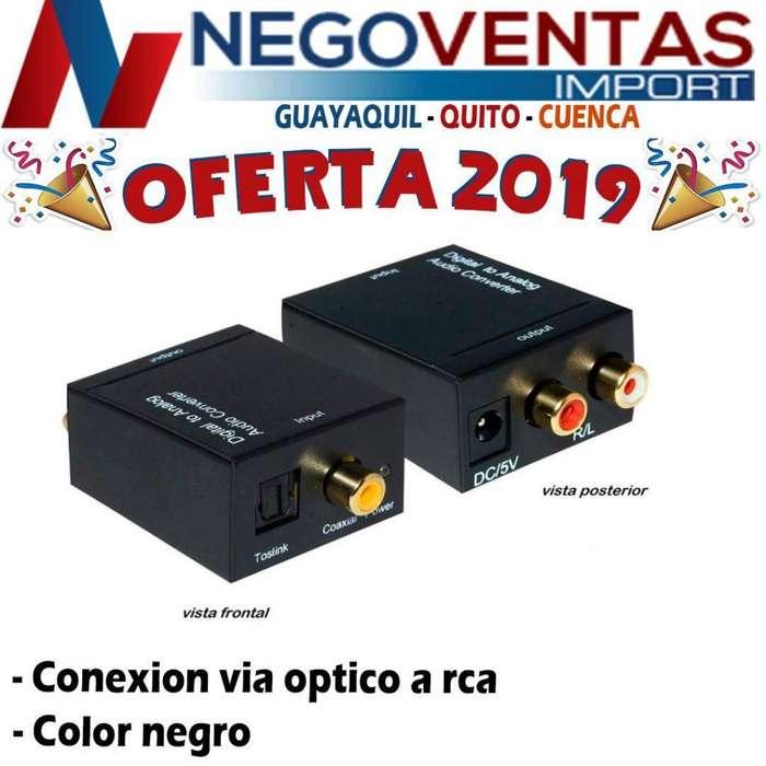 CONVERTIDOR DE AUDIO OPTICO A COAXIAL