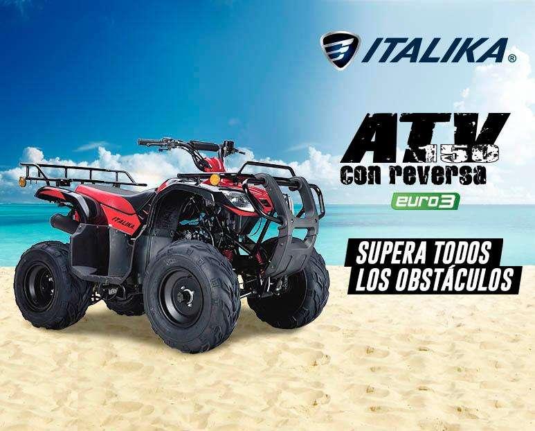 Cuatrimoto Italika ATV 150 con reversa