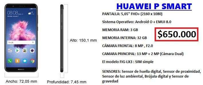 HUAWEI P SMART - CAMARA DUAL - NUEVO!!!