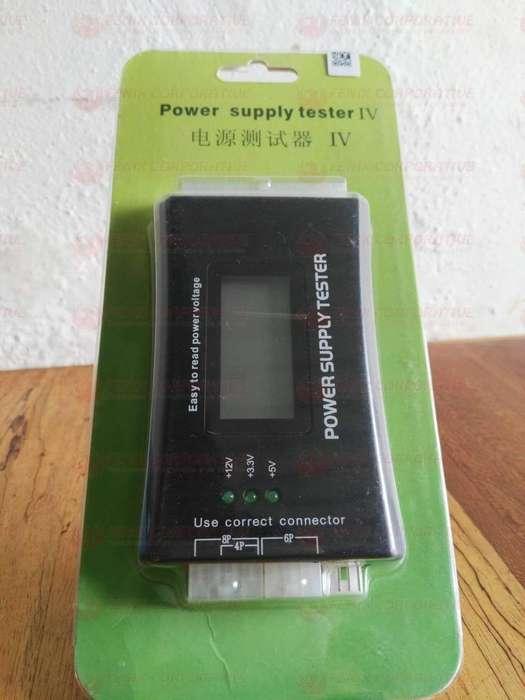 Tester Probador Fuentes Poder Digital 20/24 Pines Sata Atx