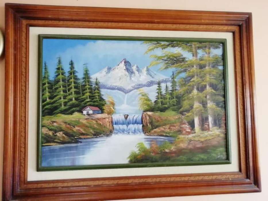 Cuadros pinturas decorativos pintados en óleos NEVADO