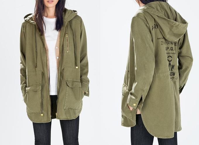 oficial mejor calificado nuevo estilo y lujo descuento especial de Chaqueta verde militar Zara - Bogotá