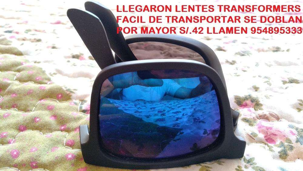 Lentes Color Negro, Se Doblan Fácil Transformers S/.42 Copia Fox