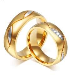 d7e3e0d57baa ... Aros de Matrimonio Oro 18k Y 24k Boda Anillos Mujer Hombre Belleza Amor  Regalo Celular Ps4