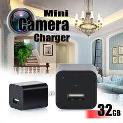 Mini Cámara Espía Oculta en Adaptador de corriente Real, Puerto USB, 32 GB internas, 1080P FULL HD.