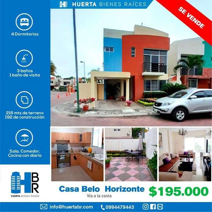 Venta Casa esquinera en Urb. Belo Horizonte (Vía a la Costa