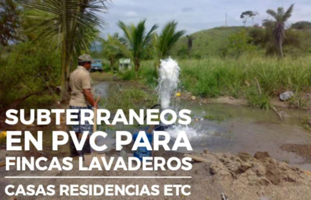 Subterraneos en Pvc Fincas Casas Etc