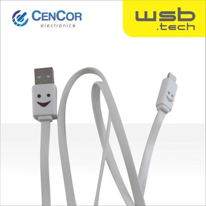 Cable para Iphone USB con luz WSB.tech! CenCor Electrónica