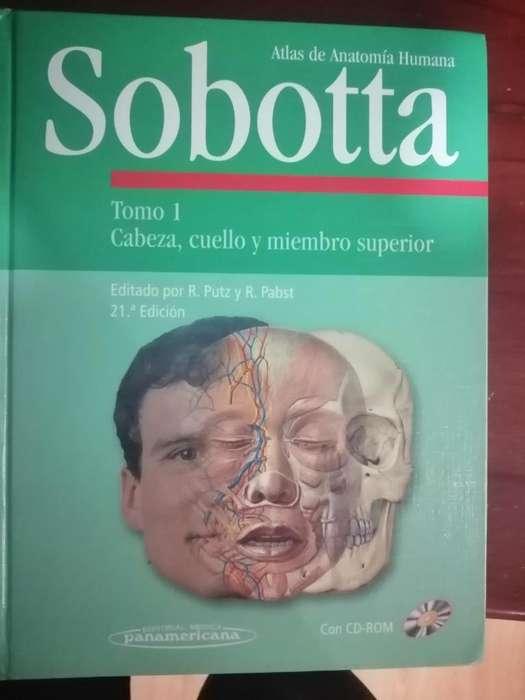 Vendo 2 Libros Sobotta de Medicina