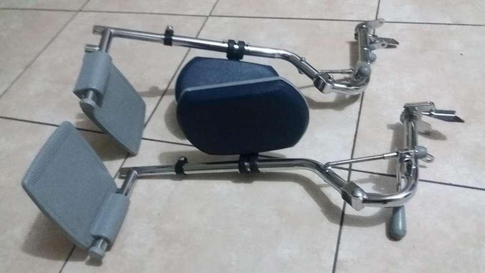porta pie de silla de ruedas