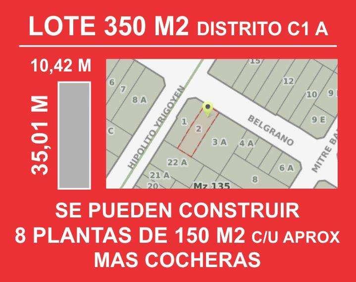 LOTE 2, CENTRO, 365M2, POSIBLE CONSTRUCCION 8 PLANTAS