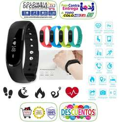 Brazalete Pulsera Reloj Inteligente Bluetooth, Monitor Cardiaco, Smart Watch, Colors, Nuevas, Garantizadas...